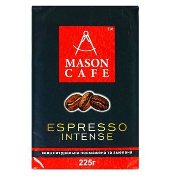 Mason cafe Espresso intense ground coffee 225g - buy, prices for MegaMarket - image 1