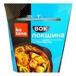Лапша Katana бобовая с курицей и овощами в устричном соуcе 250г