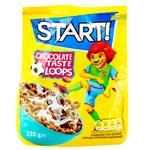 Сухие завтраки Start! Кольца со вкусом шоколада 320г