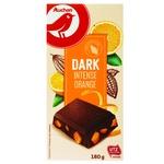 Auchan Black Chocolate with orange zest 180g