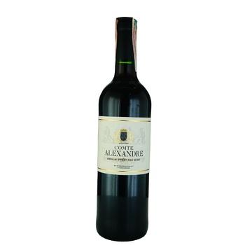 Вино Comte Alexandre червоне напівсолодке 10,5% 0,75л - купити, ціни на ЕКО Маркет - фото 1