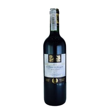 Вино Champs de Beneyteau Bordeaux червоне 13% 0,75л - купити, ціни на Ашан - фото 1