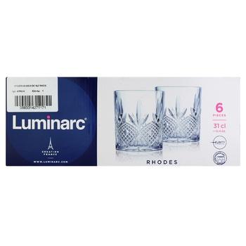 Набір склянок Luminarc Rhodes низьких 310мл 6шт