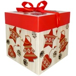 Коробка Happycom складна різдвяна 20x20x20см