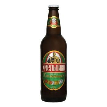 Пиво Хмельпиво Хмельницкое светлое 4,5% 0,5л - купить, цены на Фуршет - фото 1