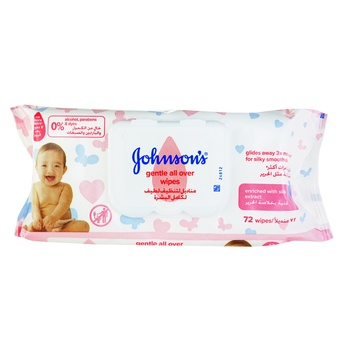 Салфетки влажные Johnson's Baby Нежная забота 72шт