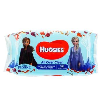 Влажные салфетки Huggies детские 56шт - купить, цены на Таврия В - фото 1