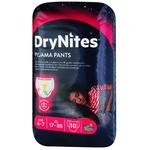 Нічні трусики-підгузники Huggies DryNites для дівчаток 4-7років 10шт - купити, ціни на Ашан - фото 1