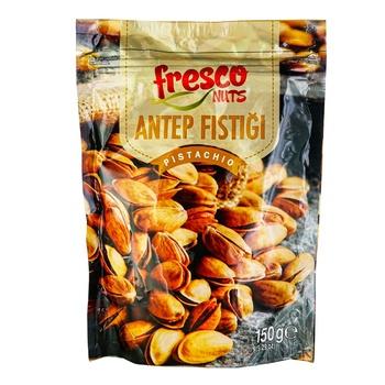 Фисташки Fresco nuts жареные соленые 150г - купить, цены на Ашан - фото 1
