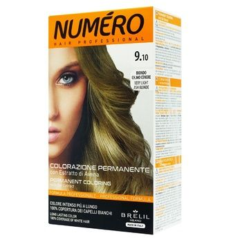 Brelil Professional Numero 9.10 Very Light Ash Blonde Hair Dye 140ml - buy, prices for Auchan - photo 1