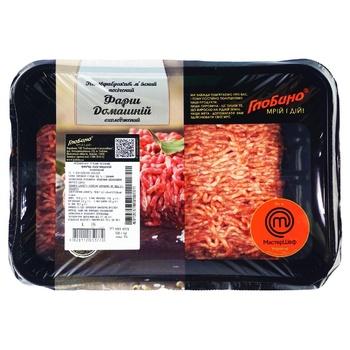Фарш Глобіно Домашній зі свинини та яловичини охолоджений 500г