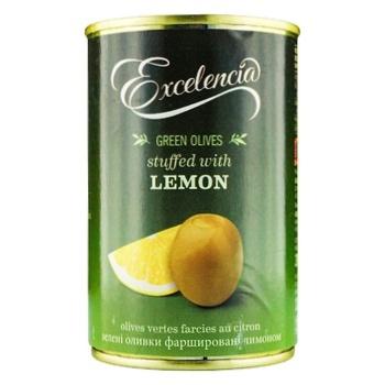 Оливки Excelencia фаршированные лимоном 314мл