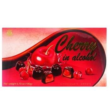 Конфеты Бисквит-Шоколад Вишня заспиртованная шоколадные 190г - купить, цены на ЕКО Маркет - фото 1