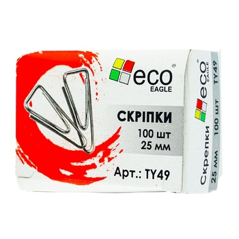Eco Eagle Paper Clips 25mm 100pcs - buy, prices for Auchan - photo 1