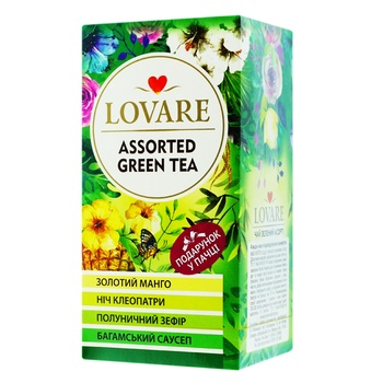 Lovare Assorted green tea 4 types *6pcs*2g - buy, prices for MegaMarket - image 1
