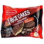 Хлібці Жменька рисові глазуровані в чорному шоколаді 2шт 30г