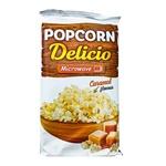 Попкорн Delicio со вкусом и ароматом карамели для микроволновой печи 90г