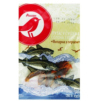 Auchan Amber Dried Blue Whiting Fish with Pepper 36g - buy, prices for Auchan - photo 1