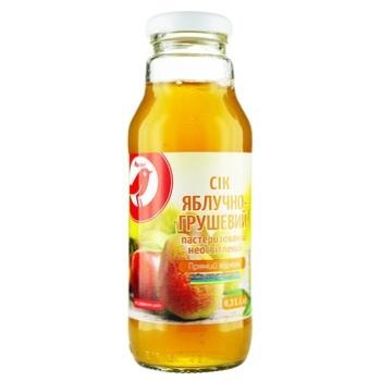 Сік Ашан яблучно-грушевий 300мл - купити, ціни на Ашан - фото 1