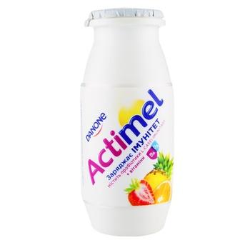Продукт кисломолочный Danone Actimel мультифрукт 1,5% 100г - купить, цены на Ашан - фото 1