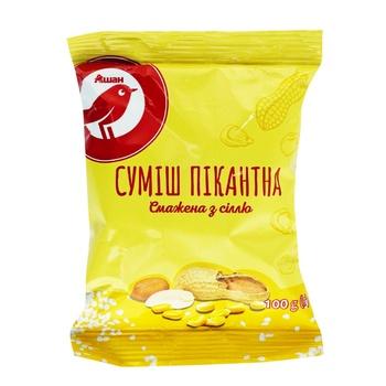 Суміш пікантна Ашан смажена з сіллю 100г - купити, ціни на Ашан - фото 1