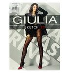 Giulia Sketch Nero Women's Tights 20 den Size 2