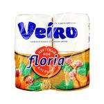Папір туалетний Veiro Floria Квітучий апельсин двошаровий 4шт