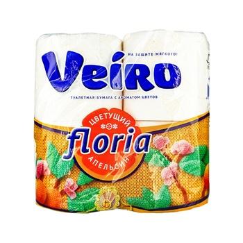 Туалетная бумага Veiro Floria Цветущий апельсин двухслойная 4шт - купить, цены на Ашан - фото 1