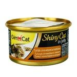Корм вологий GimCat ShinyCat з тунцем креветками і солодом для кішок 70г - купити, ціни на Ашан - фото 1