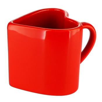 Чашка Actuel Серце порцелянова 300мл - купити, ціни на Ашан - фото 1