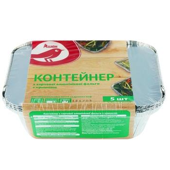 Auchan Foil Container With Lid 0,43l 5pc