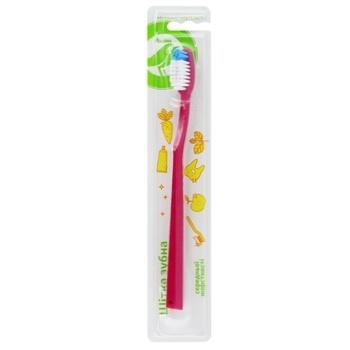 Щітка зубна Ашан середня - купити, ціни на Ашан - фото 1