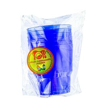 Стакан Унипак пластиковый одноразовый 6шт - купить, цены на Ашан - фото 1