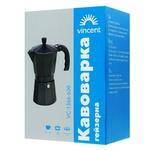 Кавоварка гейзерна Vincent VC1366-600 на 6 чашок 0,6л