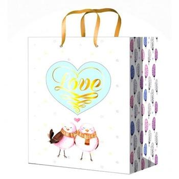 Пакет паперовий подарунковий 18*23*10см - купити, ціни на Ашан - фото 1