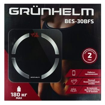 Весы Grunhelm BES-30BFS 180кг - купить, цены на Ашан - фото 1