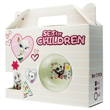 Angela Children's Set of Ware 3pcs - buy, prices for Auchan - photo 1