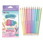 Colorino Pastel Color Bilateral Pencils 24 Colors 12pcs