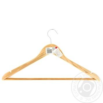 Вішалка для одягу дерев'яна 1шт - купити, ціни на Фуршет - фото 1