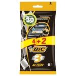 Набор бритв Bic Action 3 без сменных картриджей 4+2шт