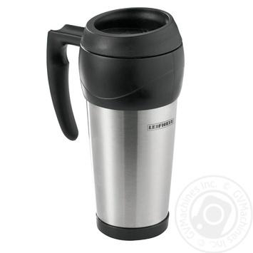 Термос-кухоль Leifheit 0,5л чорний - купити, ціни на МегаМаркет - фото 1