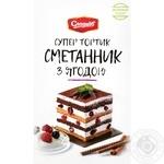 Торт Сладков Сметанник с ягодами 200г