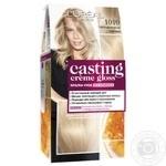 Краска-уход для волос L'Oreal Casting Creme Gloss 1010 Светло-светло-русый пепельный без аммиака