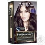 Краска для волос L'Oreal Recital Preference 4.01 Париж Глубокий каштан