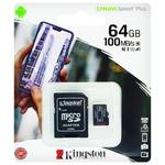 Карта памяти Kingston Canvas Select Plus + SD adapter 64GB