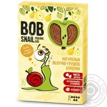 Конфеты Bob Snail натуральные яблочно-грушевые 60г - купить, цены на Фуршет - фото 1