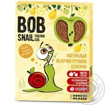 Конфеты Bob Snail яблочно-грушевые натуральные 120г - купить, цены на Метро - фото 1