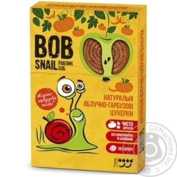 Цукерки Bob Snail натуральні яблучно-гарбузові 60г - купити, ціни на Ашан - фото 1
