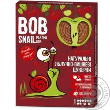 Цукерки Bob Snail яблучно-вишневі натуральні 120г - купити, ціни на МегаМаркет - фото 1
