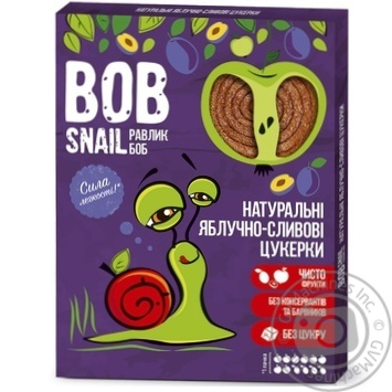 Конфеты Bob Snail яблочно-сливовые натуральные 120г - купить, цены на МегаМаркет - фото 1